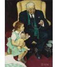 Norman Rockwell - Dottore e Bambola. Stampa su tela