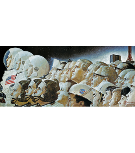 Norman Rockwell - From the Earth to the Moon. Printing on canvas
