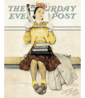 Printing on canvas: Norman Rockwell - Girl reading the Post