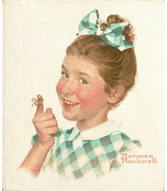 Printing on canvas: Norman Rockwell - Girl with String