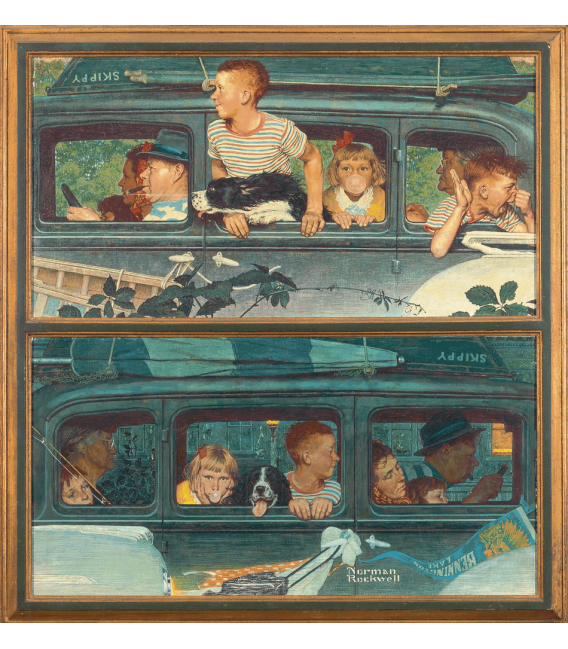 Printing on canvas: Norman Rockwell - Going and coming