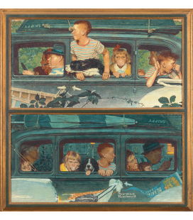 Stampa su tela: Norman Rockwell - Going and coming