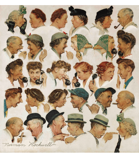 Printing on canvas: Norman Rockwell - Gossips