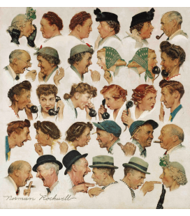 Norman Rockwell - Gossips. Printing on canvas