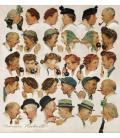 Norman Rockwell - Gossips. Stampa su tela