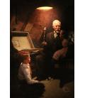 Norman Rockwell - Cassa del Tesoro del nonno. Stampa su tela