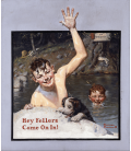 Norman Rockwell - Hey come on in Fellers. Printing on canvas