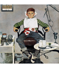 Norman Rockwell - In the Dentist's Chair. Printing on canvas