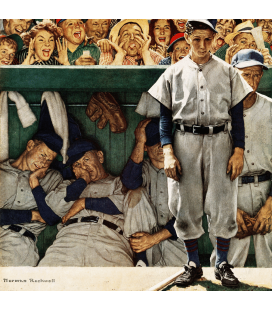Norman Rockwell - Jeers from Crowd. Printing on canvas