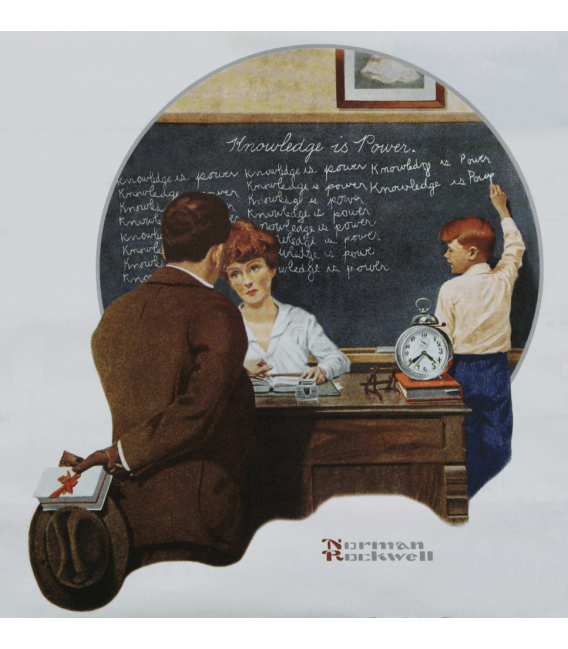 Stampa su tela: Norman Rockwell - Knowledge is Power
