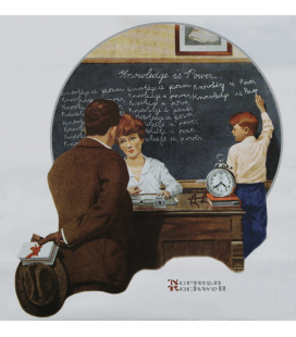 Norman Rockwell - Knowledge is Power. Printing on canvas