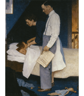 Norman Rockwell - Libertà dalla Paura - Freedom from Fear. Stampa su tela