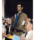 Stampa su tela: Norman Rockwell - Libertà di Parola - Freedom of Speech