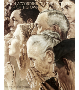 Printing on canvas: Norman Rockwell - Freedom of Worship - Freedom of Worship