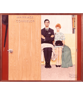 Norman Rockwell - Marriage Counselor. Printing on canvas