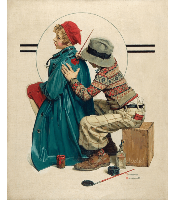 Printing on canvas: Norman Rockwell - She's My Baby