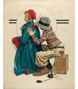 Stampa su tela: Norman Rockwell - She's My Baby