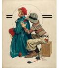 Stampa su tela: Norman Rockwell - She's My Baby