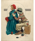 Norman Rockwell - She's My Baby. Printing on canvas