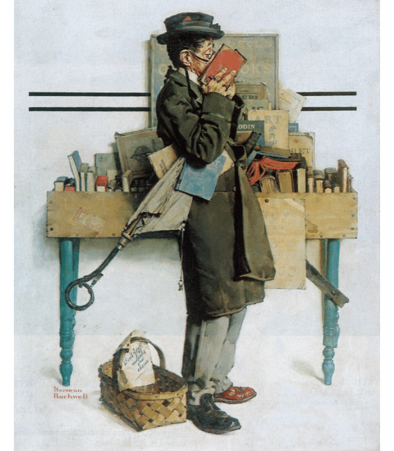 Printing on canvas: Norman Rockwell - The Bookworm