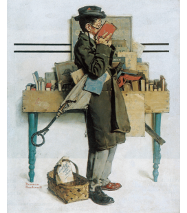 Norman Rockwell - The Bookworm. Printing on canvas