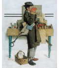 Stampa su tela: Norman Rockwell - The Bookworm