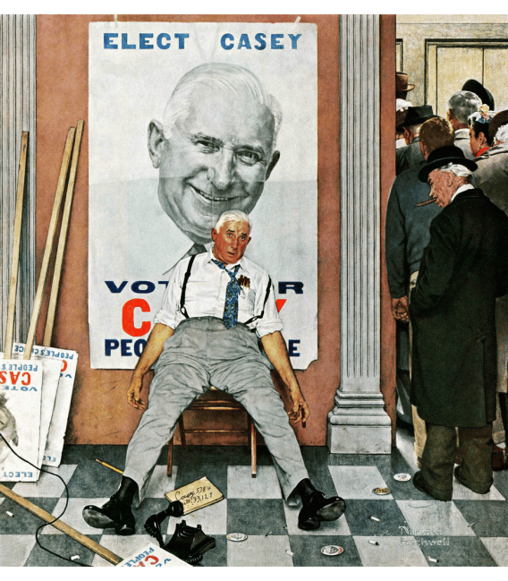 Stampa su tela: Norman Rockwell - The Candidate