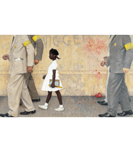 Stampa su tela: Norman Rockwell - The Problem We All Live With