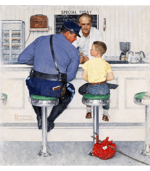 Printing on canvas: Norman Rockwell - The Runaway