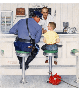 Norman Rockwell - The Runaway. Printing on canvas