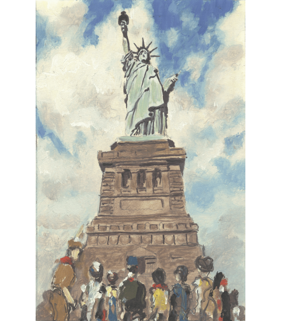 Stampa su tela: Norman Rockwell - The Statue of Liberty