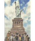 Norman Rockwell - The Statue of Liberty. Printing on canvas