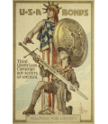 Printing on canvas: Norman Rockwell - Weapons for Liberty