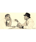 Norman Rockwell - Two Men conversing. Printing on canvas