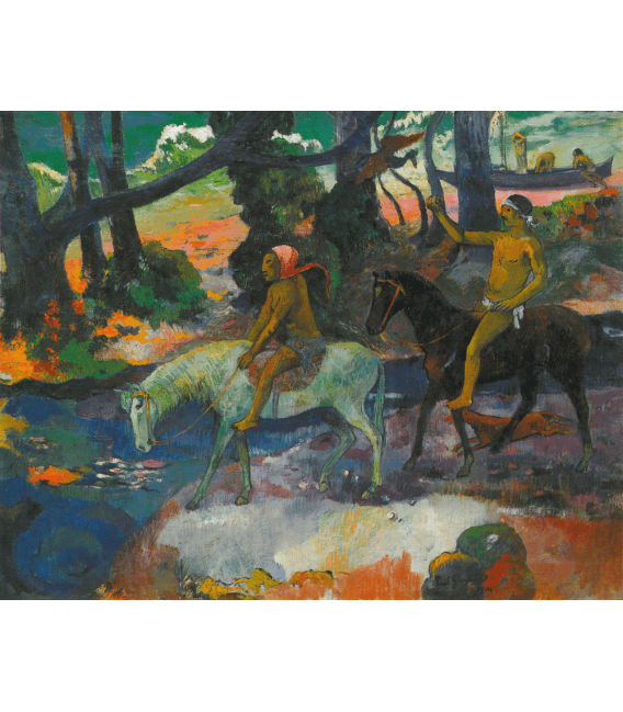 Stampa su tela: Paul Gauguin - Guado