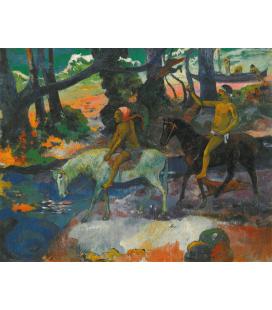 Paul Gauguin - Guado. Stampa su tela