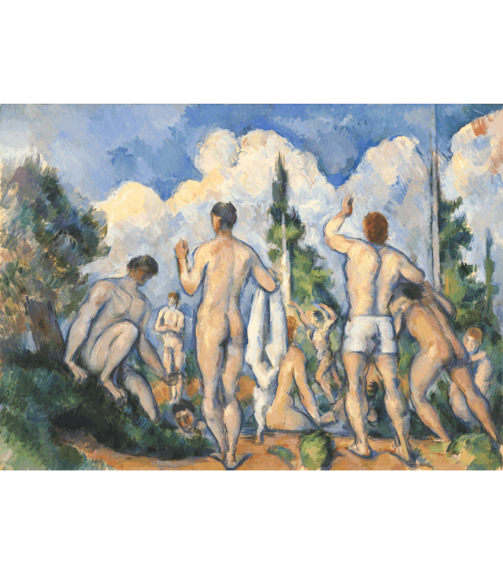 Printing on canvas: Paul Cezanne - Bathers