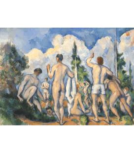 Paul Cézanne - Bagnanti. Stampa su tela
