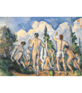 Stampa su tela: Paul Cézanne - Baigneurs