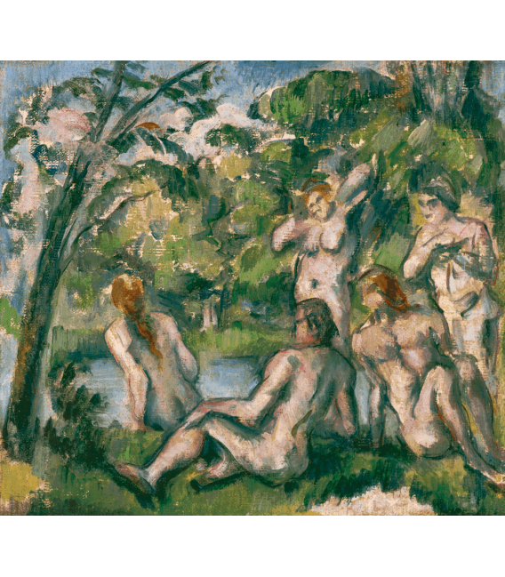 Printing on canvas: Paul Cezanne - Bathers 2