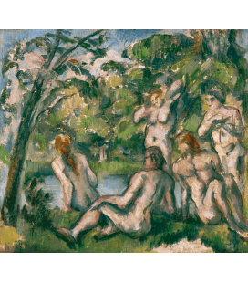 Printing on canvas: Paul Cezanne - Bathers 2
