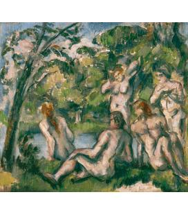Paul Cézanne - Bagnanti 2. Stampa su tela