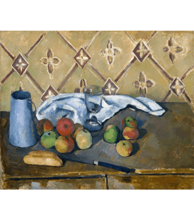 Printing on canvas: Paul Cézanne - Fruits towel and milk-box