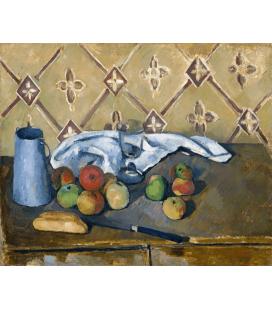 Stampa su tela: Paul Cézanne - Fruits serviette et boitea lait-orangerie