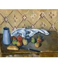 Paul Cézanne - Fruits towel and milk-box