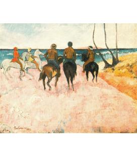 Paul Gauguin - Il Cavallo Bianco. Stampa su tela