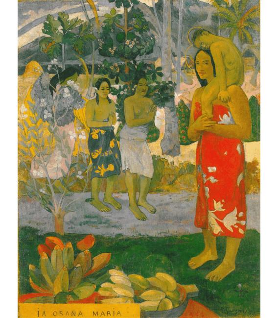 Stampa su tela: Paul Gauguin - La Orana Maria (Ave Maria)