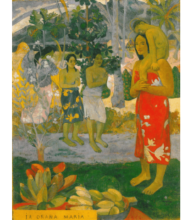 Paul Gauguin - La Orana Maria (Ave Maria). Stampa su tela