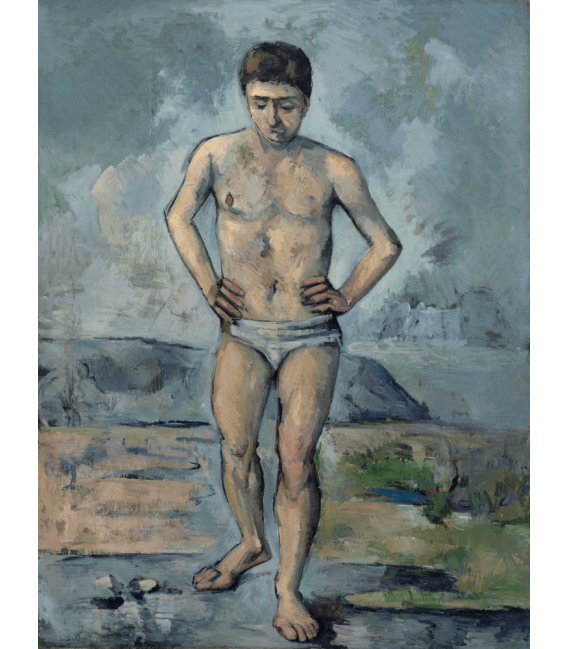 Printing on canvas: Paul Cézanne - The great bather