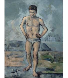 Stampa su tela: Paul Cézanne - Le grand baigneur